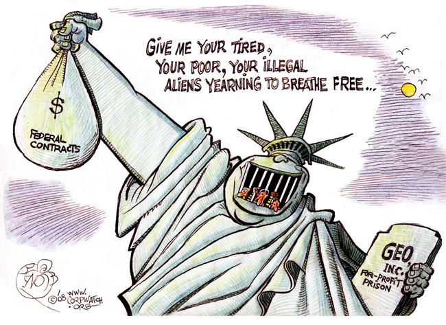 privately owned prisons in the united states Private prison companies are exploiting our corrupt political system to lock  people  the state to fill 90-100% of the beds in privately-owned detention  facilities.