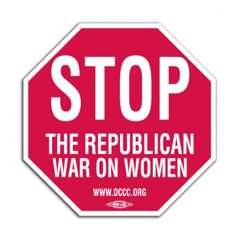war-on-women-stop-sign