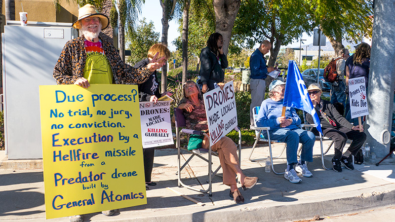 San Diego Veterans for Peace demonstration at General Atomics