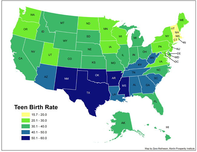 Teen Birth Rates Total