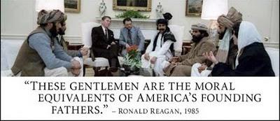 Reagan with Afghan Mujahideen 1985
