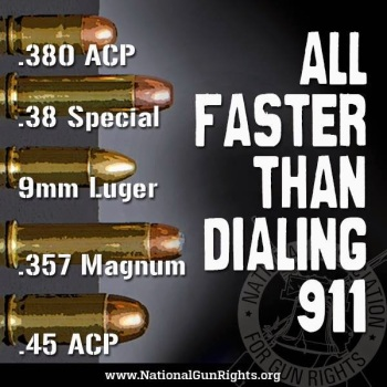 NRA Faster than 911