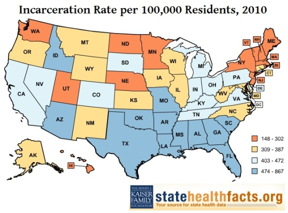 USIncarcerationRatesbyState2010
